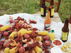 Low-Country Boil. Around the Southern Table Cookbook by Rebecca Lang