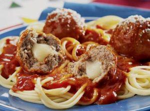 cheesy-stuffed-meatballs-and-spaghetti